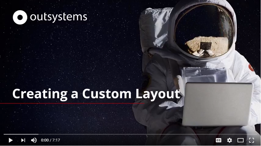 Creating a Custom Layout in OutSystems