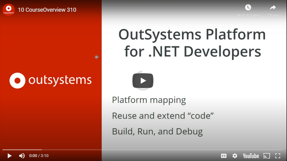 OutSystems for .NET Developers course -outsystems.com